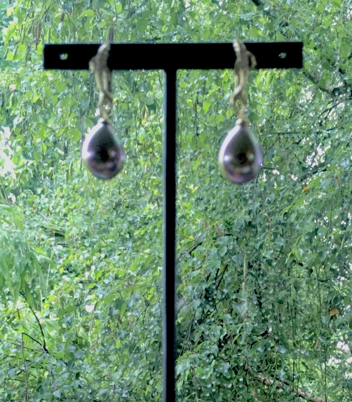 Black Pisces Pearl earrings