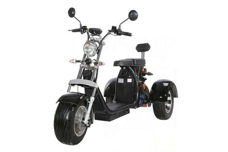 E-SCOOTER HARLEY-TRICYCLE 2 - 2000W 60V 12Ah 45km/h - mit Straßenzulassung