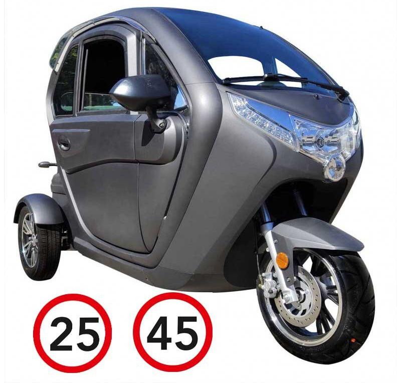 Kabinenroller 2, 45/25 km/h, 60 km Reichweite