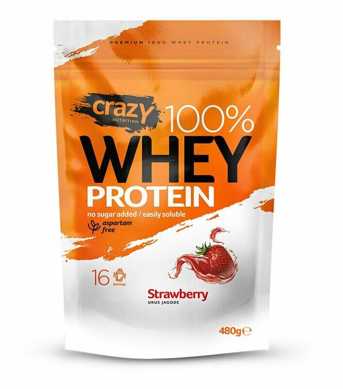 Whey protein 480g - Jagoda