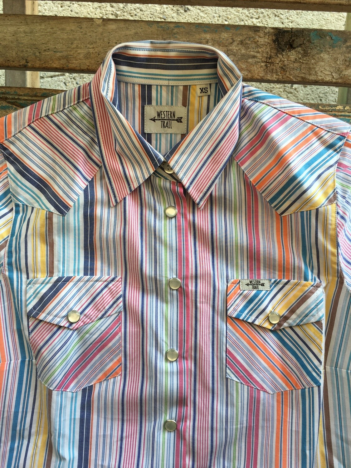 Camicia donna Stripes orange/pink
