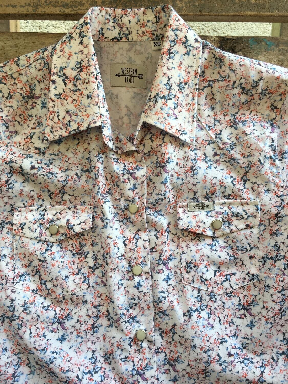 Camicia donna light flowers