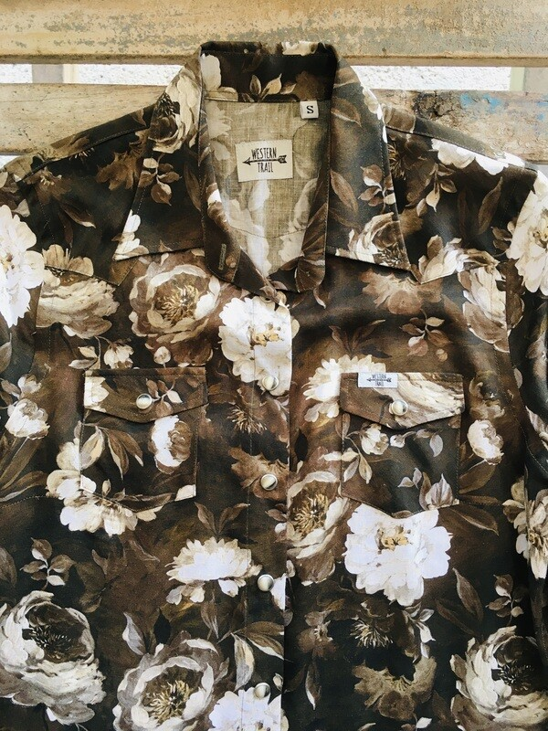 Camicia donna vintage Roses