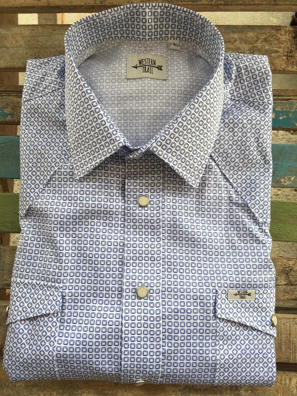Camicia uomo-BLUE SQUERE