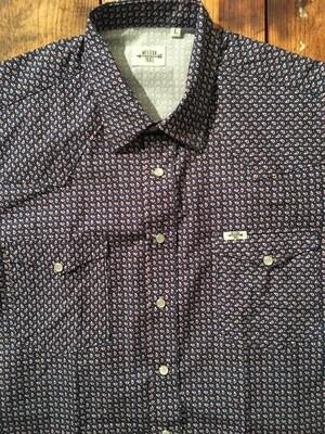 Camicia uomo-BLUE JACQUARD