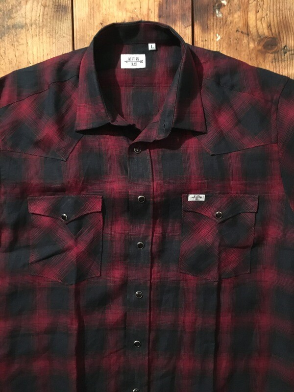 Camicia uomo-RED PLAID