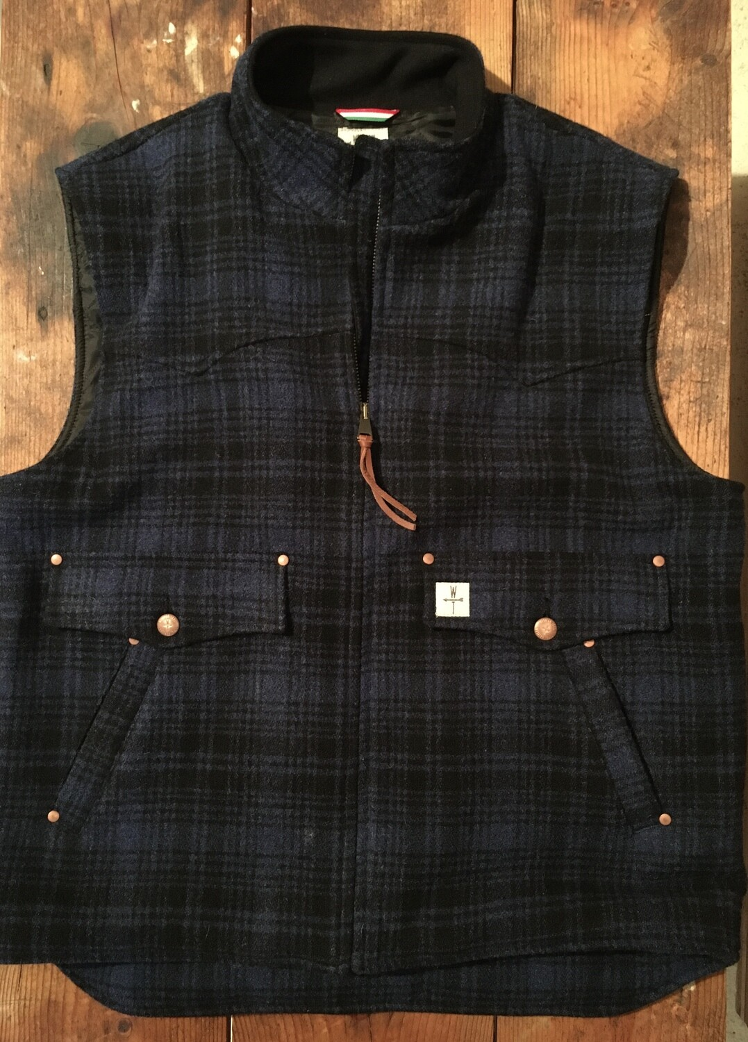 DROVER WOOL-blue plaid