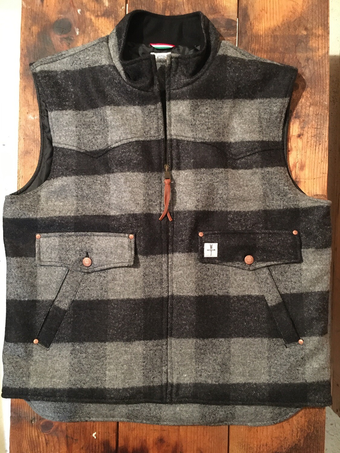 DROVER WOOL-smoke  plaid