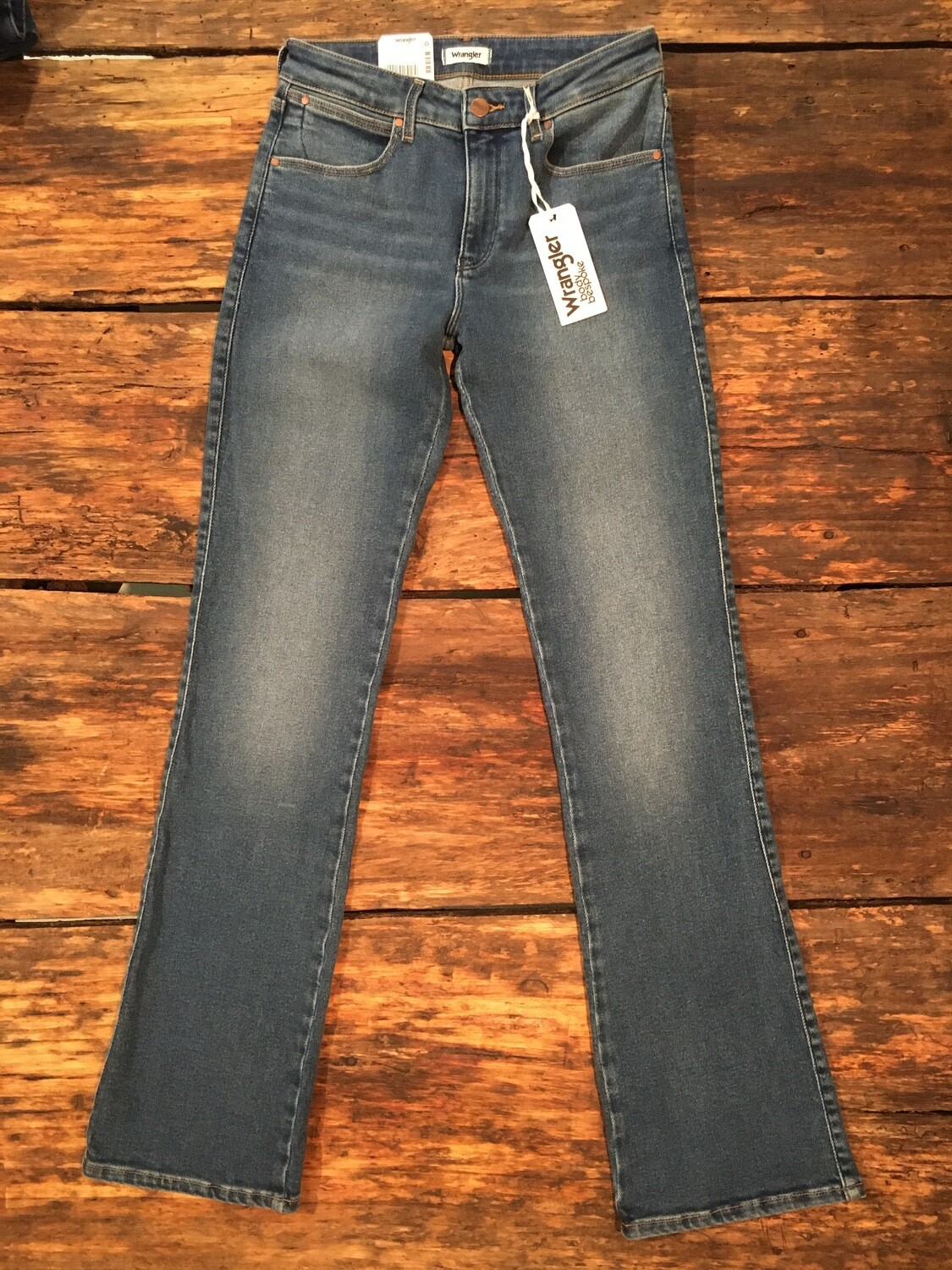 Bootcut stretch-med blue