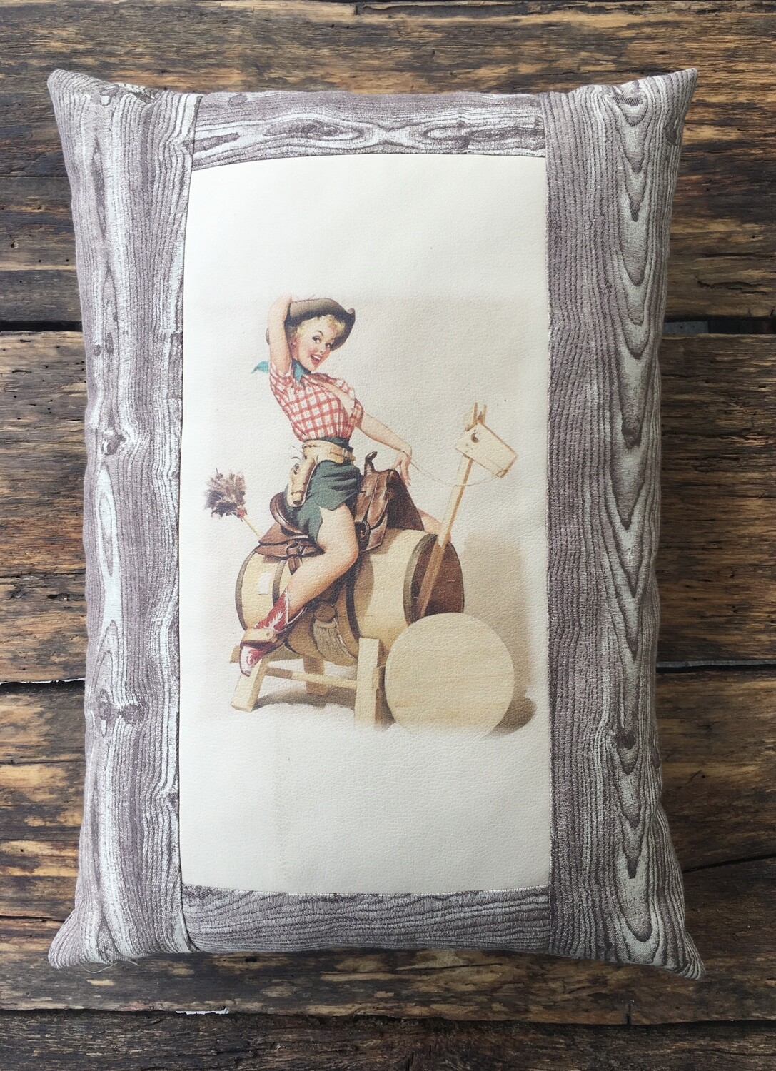Pillow-Cowgirl barrel