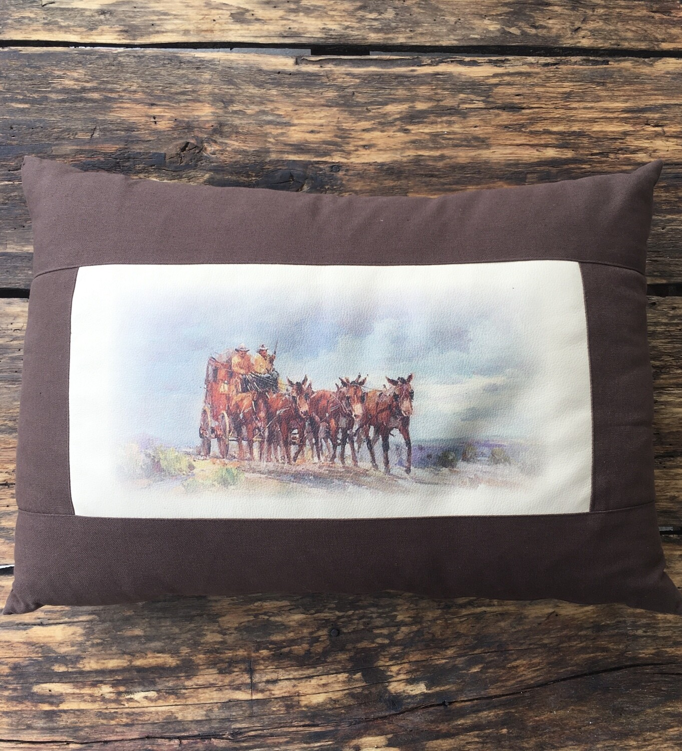 Pillow-Mule Trail brown