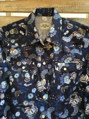 Camicia donna flowers blue