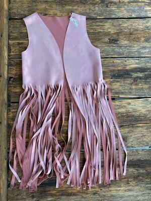 Vest-Pink Fringe
