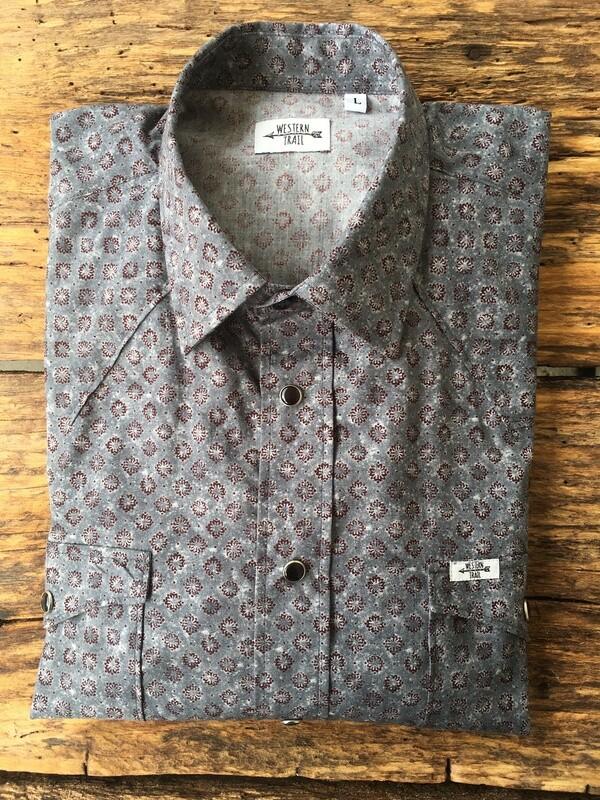 Camicia uomo-GREY PRINT