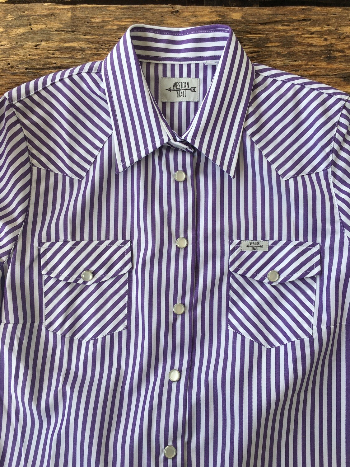 Camicia donna Stripes Purple