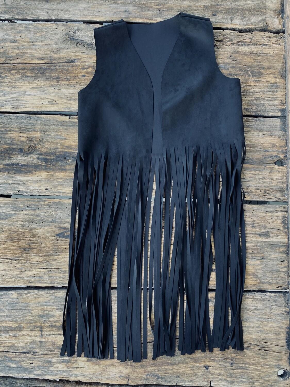 Vest-Black Fringe