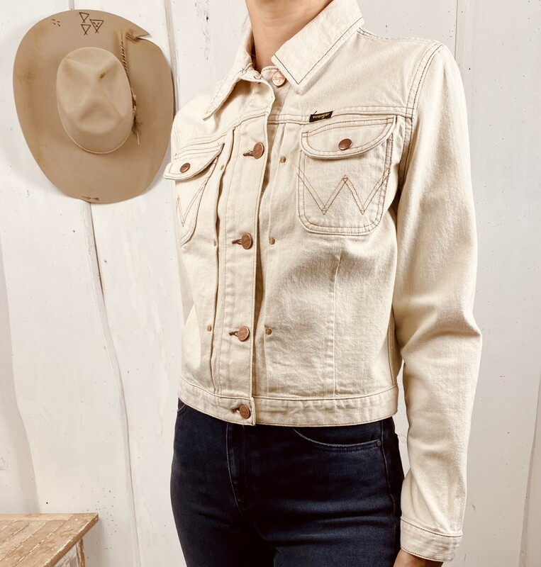 Retrò Western jacket-natural sand