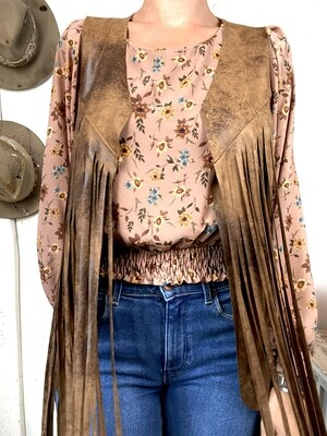 Old style vest Brown