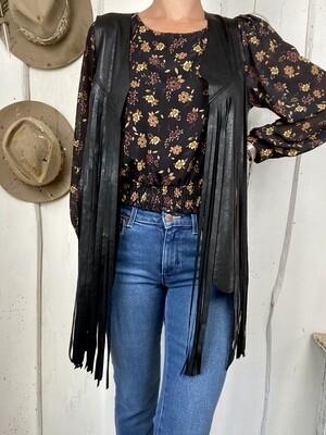 Old style vest Black