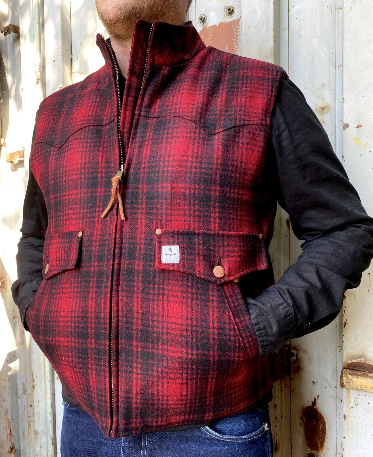 DROVER WOOL-red plaid