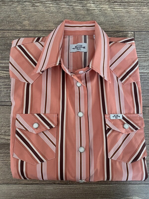 Salmon Pink & Stripes