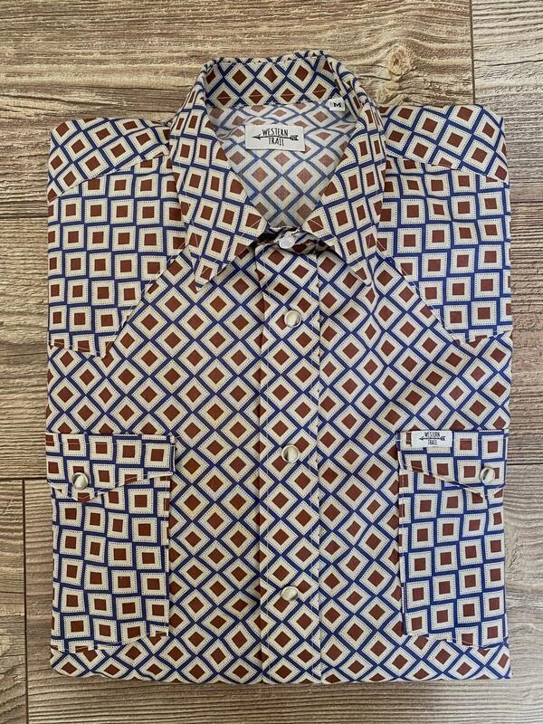 Camicia uomo Geometric Vintage
