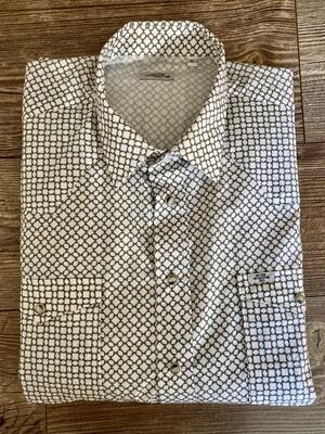 Camicia Uomo Geometric Green