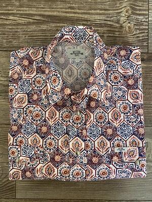 Camicia uomo Orange Blue geometric