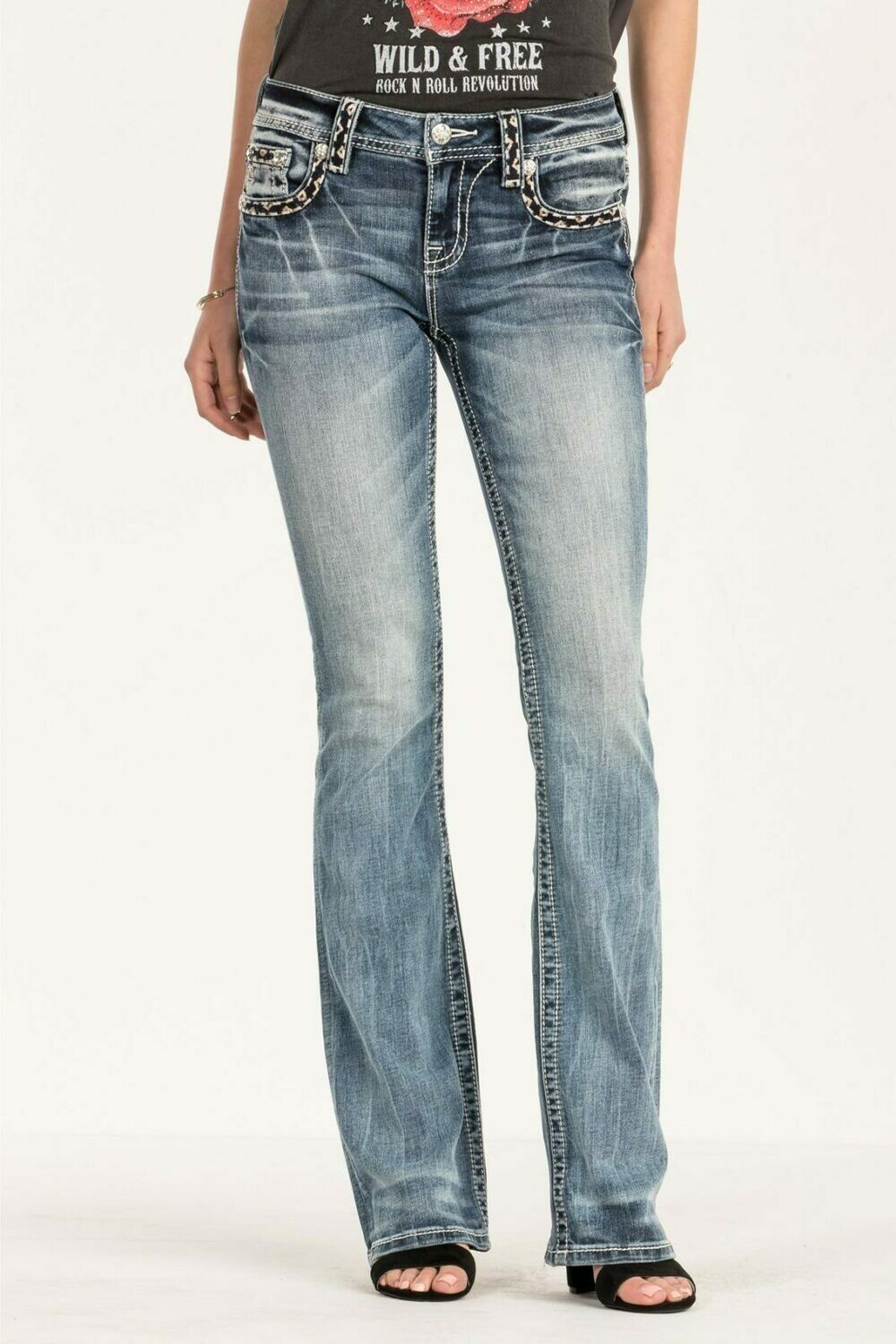 FALL IN LINE MID-RISE BOOTCUT JEANS