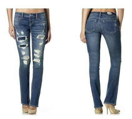 FUN AND FAME SLIM BOOT CUT JEANS