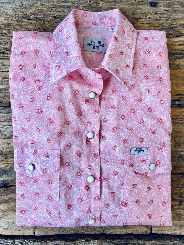 Camicia donna western Pink jacquard