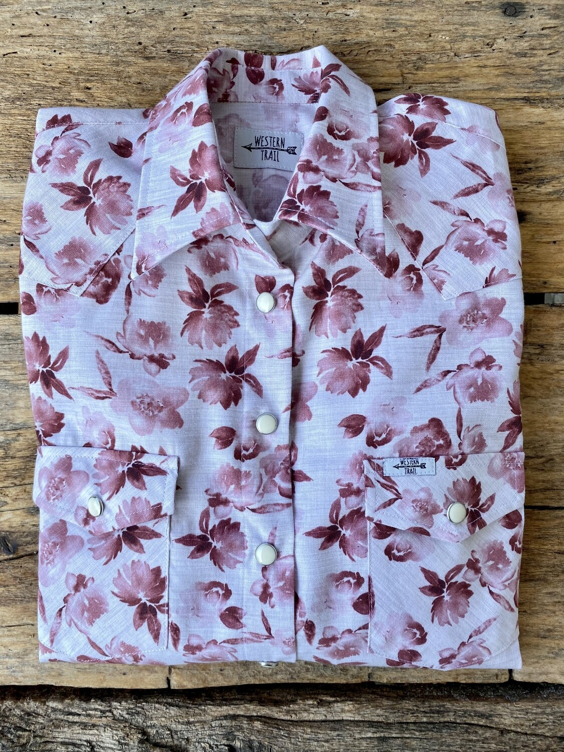 Camicia donna western Pink flowers