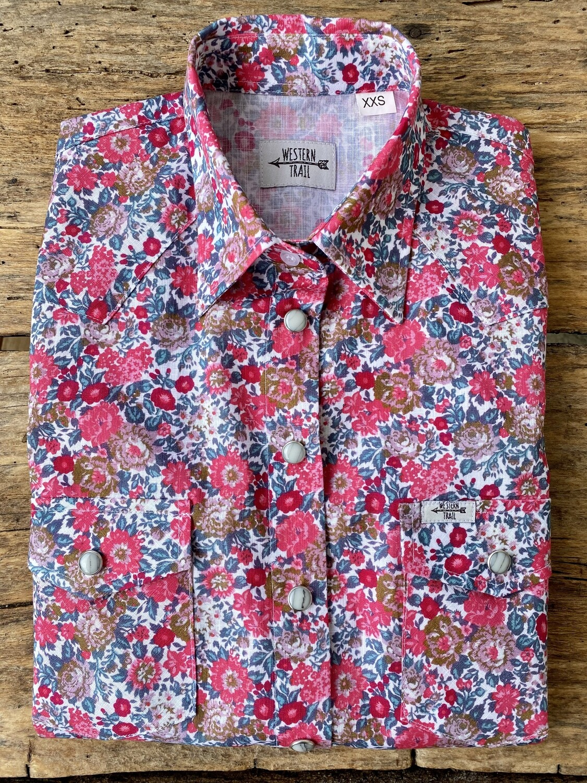 Camicia donna western Wild flowers