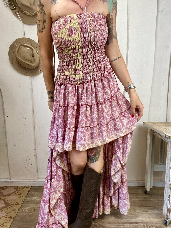 Abito in seta Dolly rosa