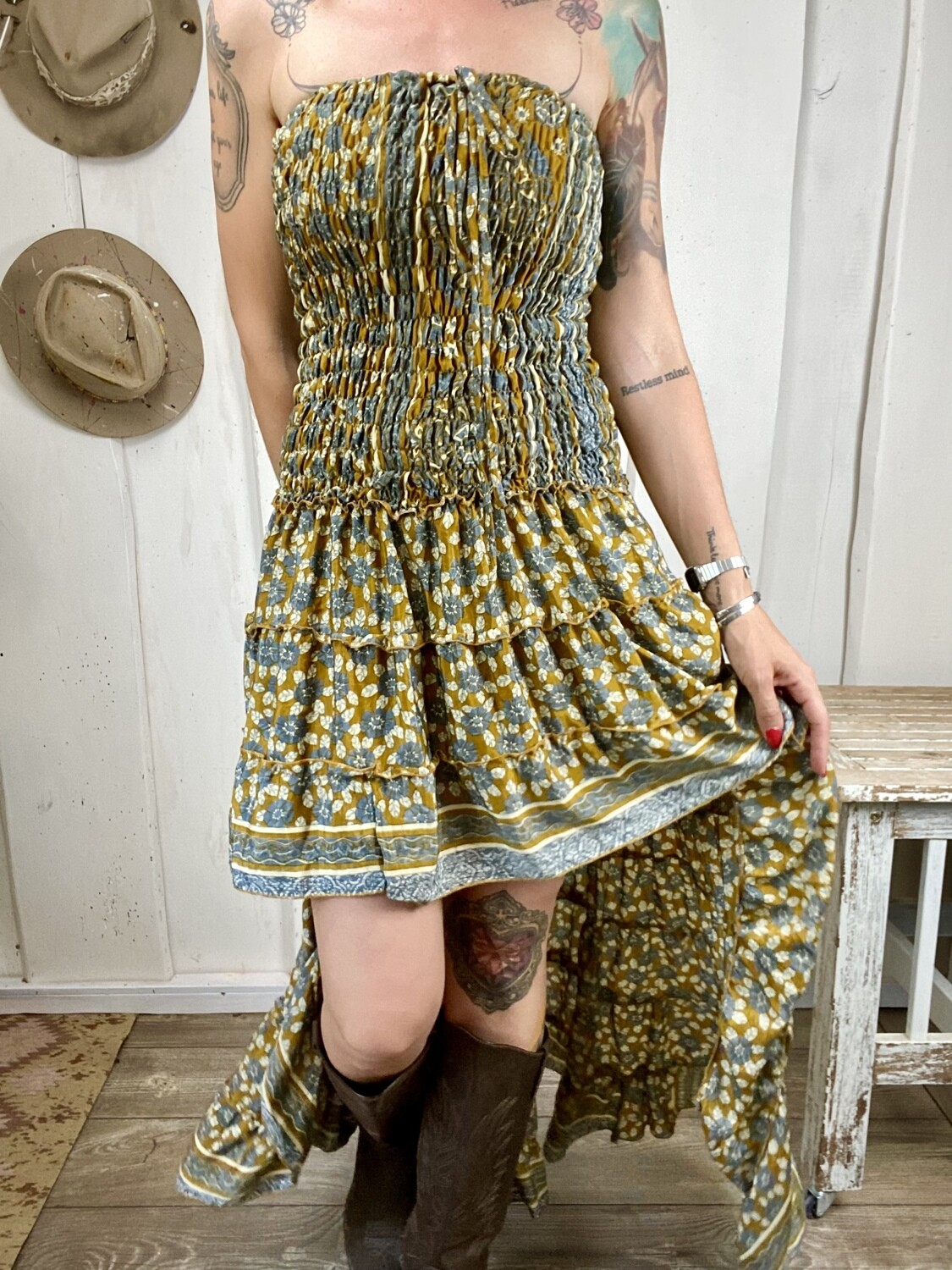 Abito in seta Dolly lil flowers