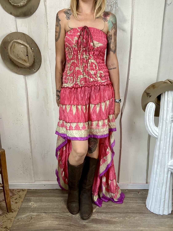 Abito in seta Dolly pink please