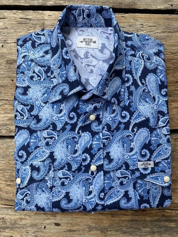 Camicia uomo - Jacquard blue