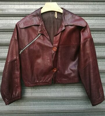 70s Plum Leather Jacket