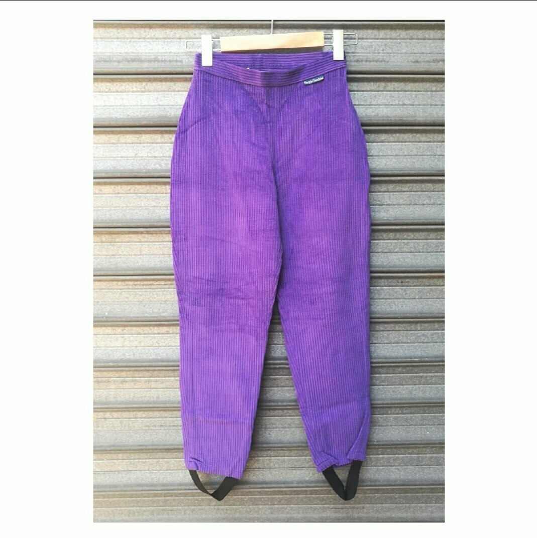 80s Purple Tapered Pants