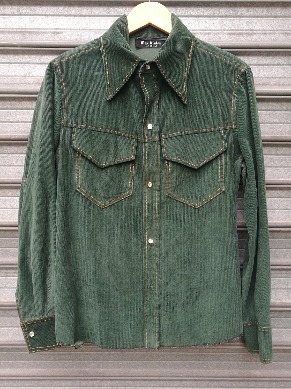 70s Khaki Corduroy Shirt