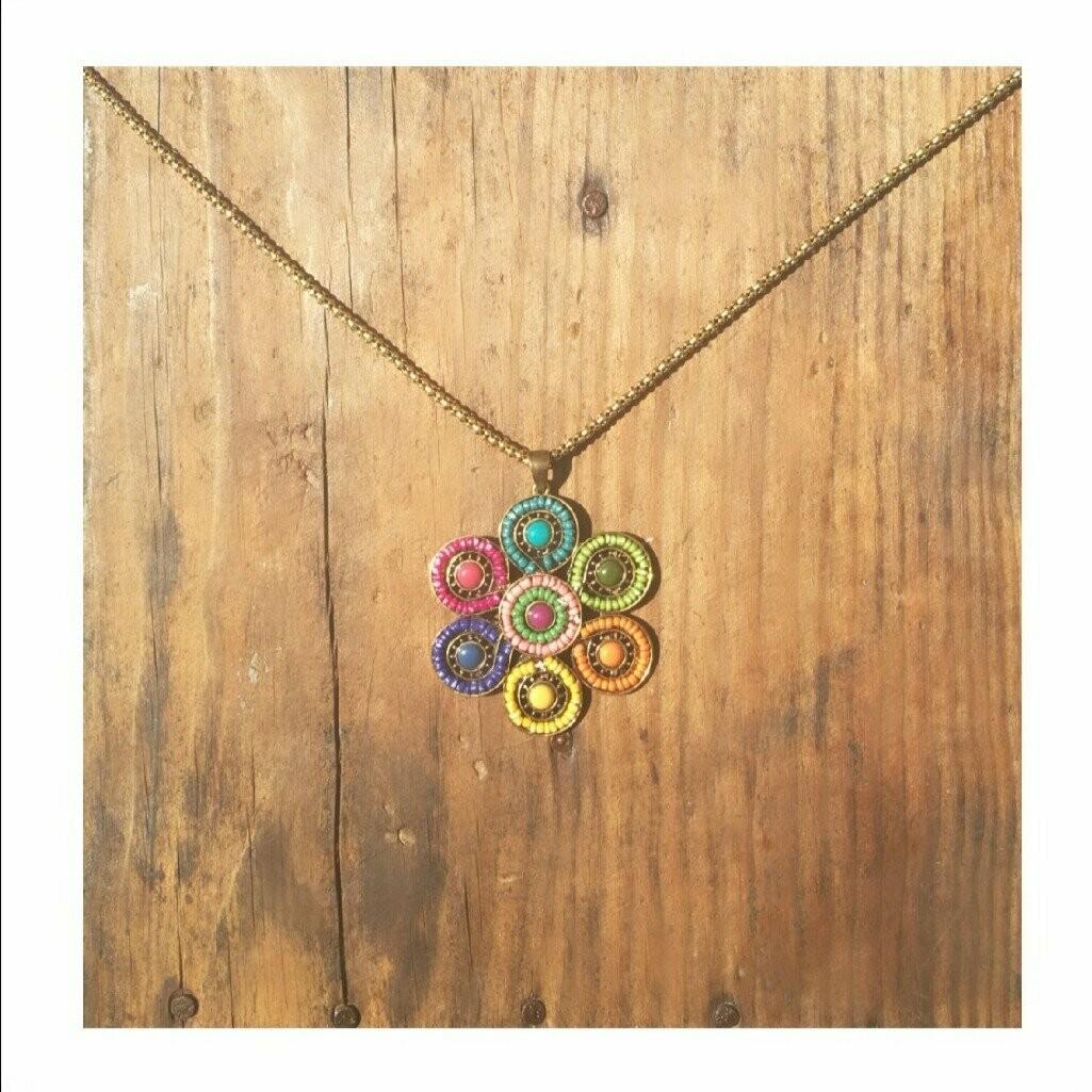70s Flower Pendant