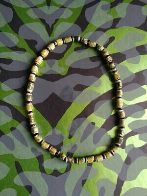 70s Green Coral Heishi Necklace