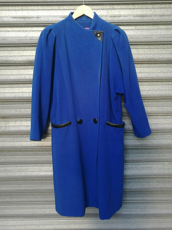 80s Blue Long Coat