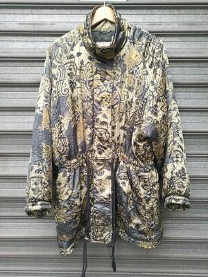 80's Printed Satin Coat