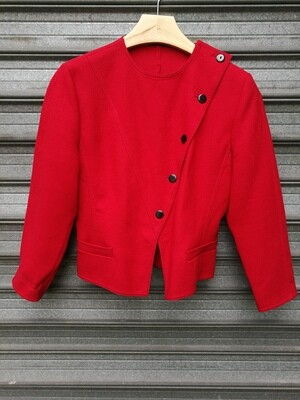 80's Red Wool Blouse