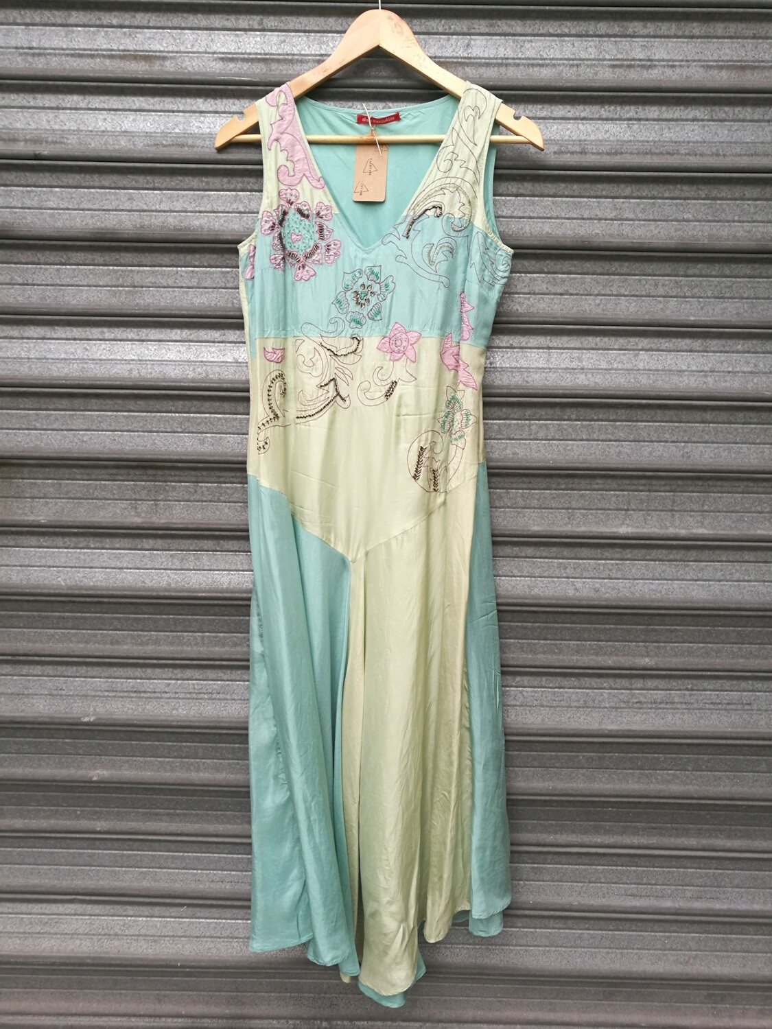 2000's Embroidered Silk Dress