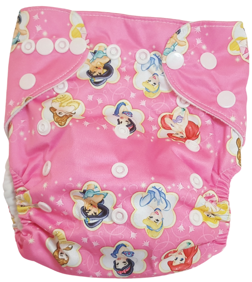 Eco Friendly Reusable Cloth Diaper - Disney Princesses & Frozen