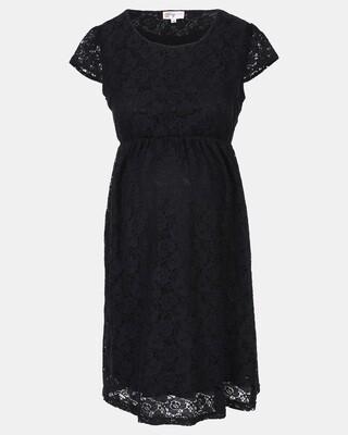Black Maternity Lace Dress