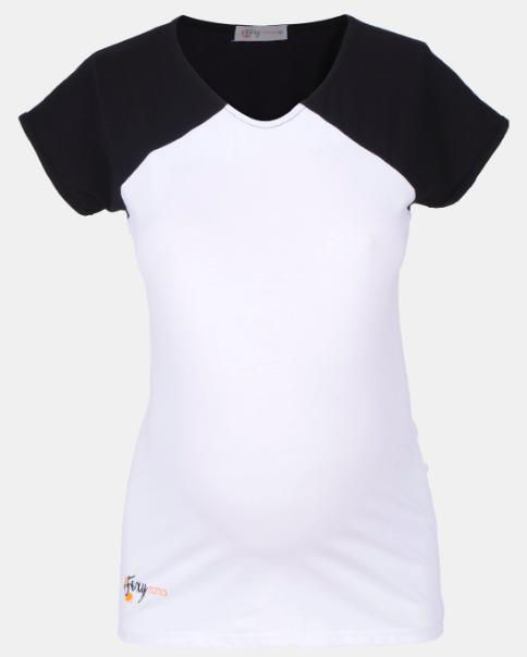 Black & White Maternity Top