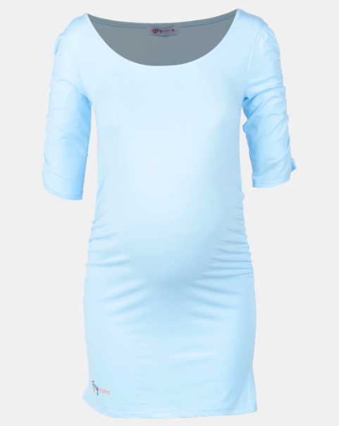 Light Blue Maternity Top